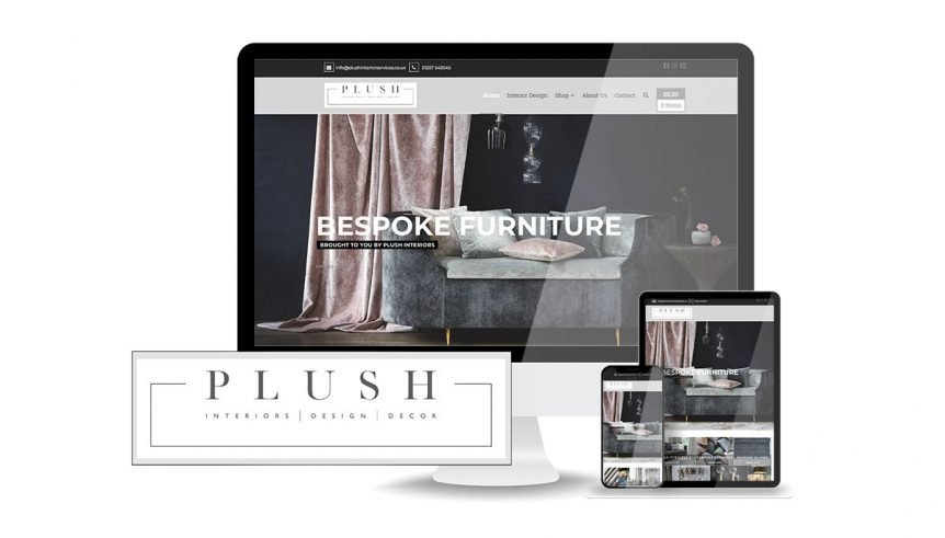 plush interiors website designed by anaweb