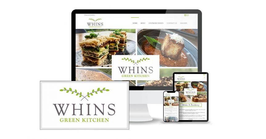 Whins green kitchen website designed by anaweb